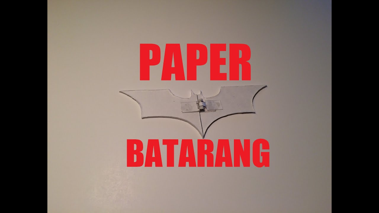 List of Synonyms and Antonyms of the Word Paper Batarang