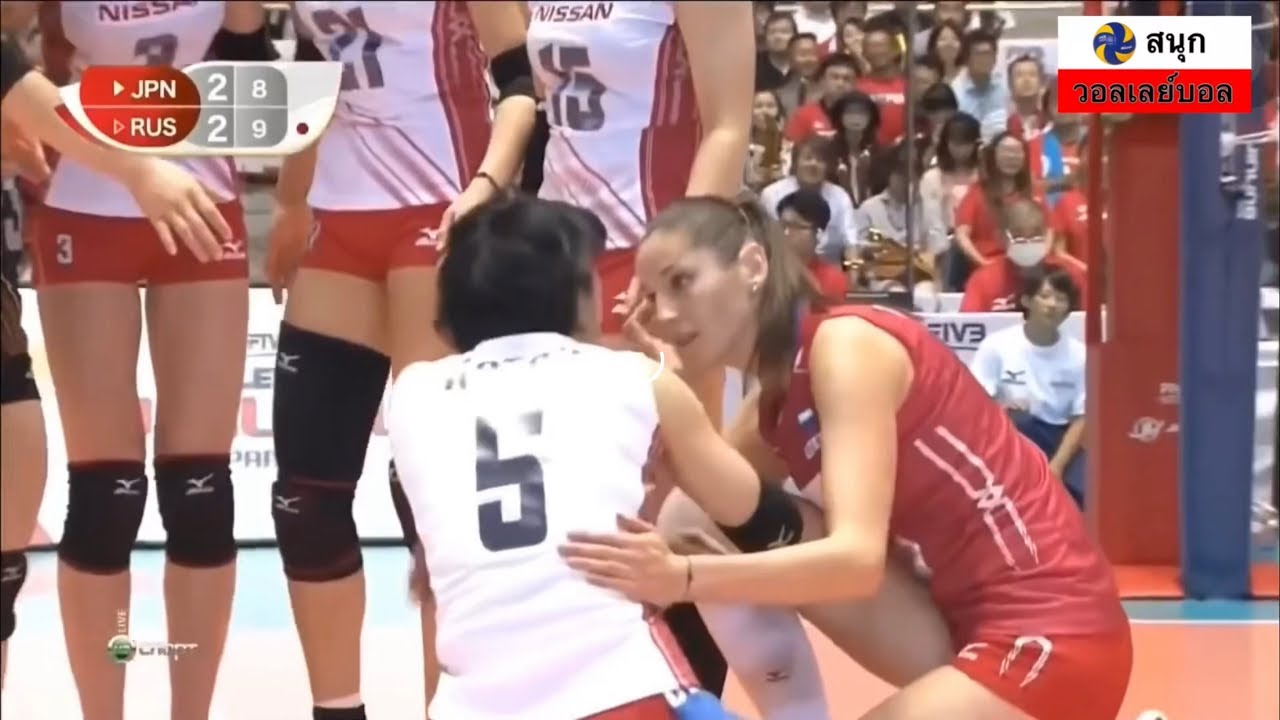 Download Tatiana Kosheleva ตบอัดหน้า Kotoh มือเซ็ตทีมชาติญี่ปุ่น แล้วมาขอโทษ