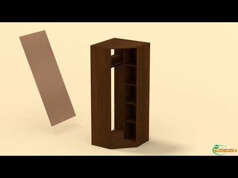 Как собирать угловой шкаф