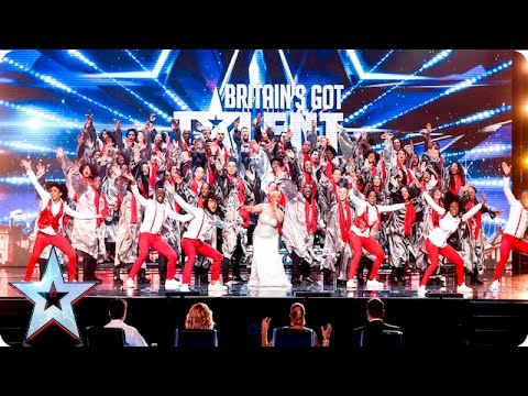 The 100 Voices Of Gospel go for gold!  Week 2 Auditions  Britain's Got Talent 2016