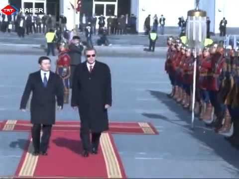 Başbakan Erdoğan'ı Cengiz Han'ın askerleri karşıladı ORTA ASYA TURU