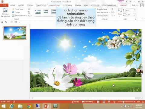 Tự học PowerPoint 2013: Tạo hiệu ứng hoạt hình cho slide