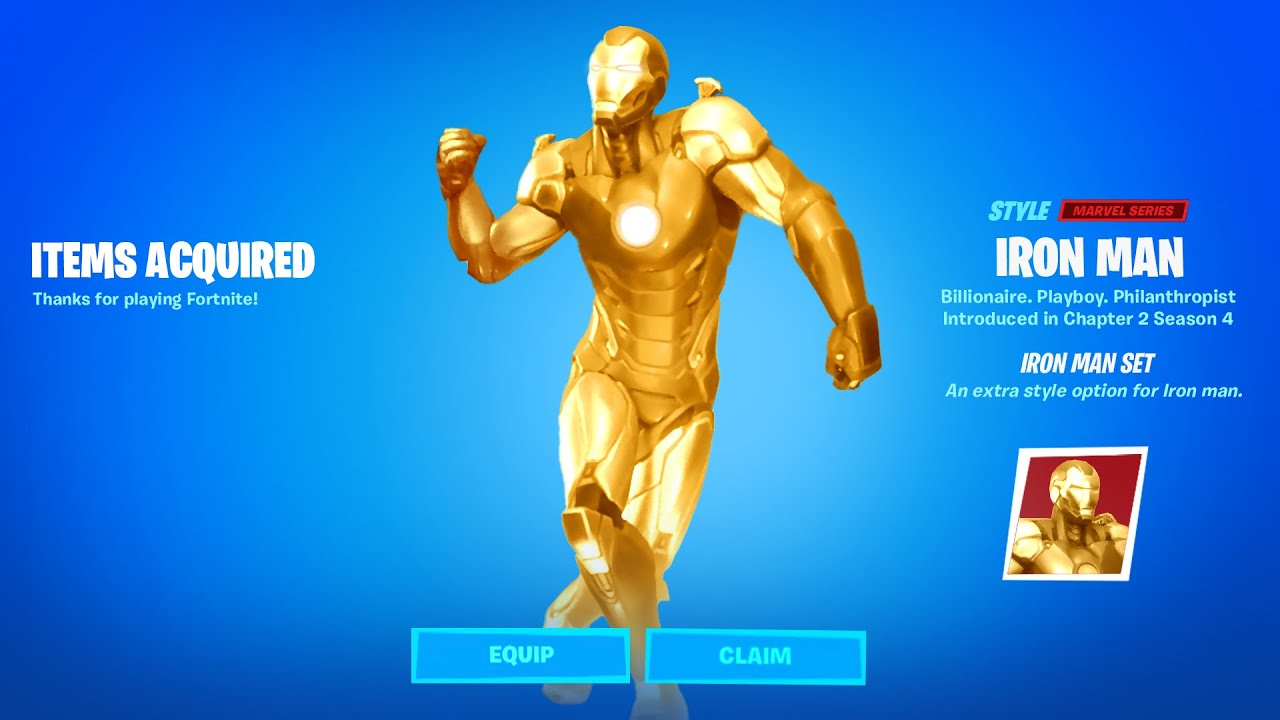 Fortnite Boss Iron Man Tony Stark Reward Youtube