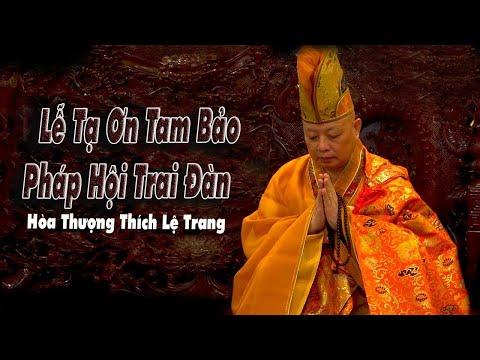 HT Thích Lệ Trang Sám Chủ Pháp Hội Trai Đàn Tại Thiện Quang Tự