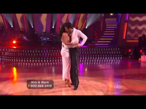 Kim Kardashian & Mark Ballas dancing the Rhumba