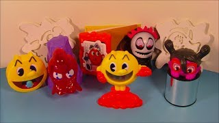 2014 PAC-MAN and THE GHOSTLY ADVENTURES SET OF 6 BURGER KING KID'S MEAL TOY'S VIDEO REVIEW