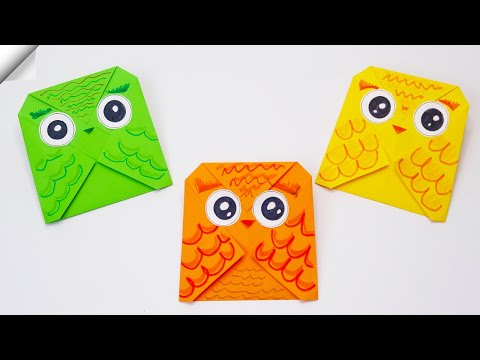 How to make a paper OWL | Easy origami owl | Easy paper toys