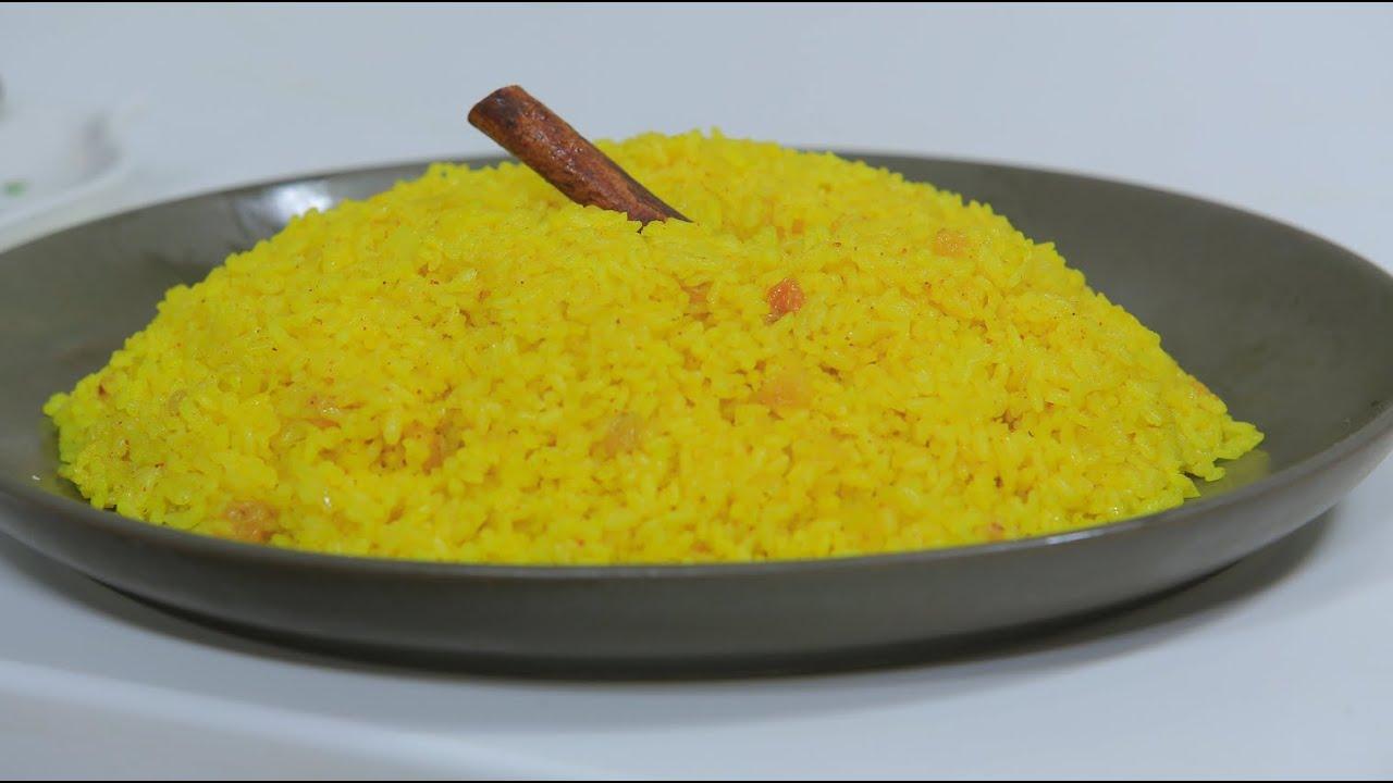أرز أصفر بالزبيب : نجلاء الشرشابي