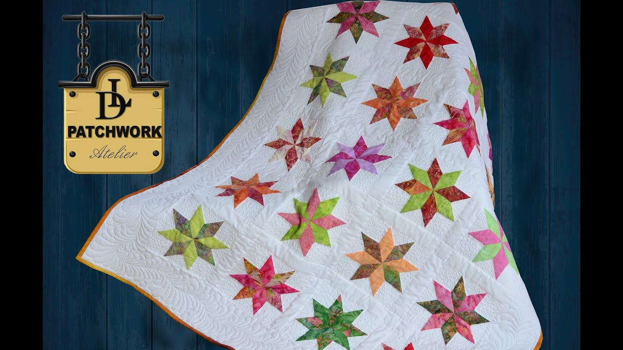 Patchwork Quilt Bali Pops Rapid Fire Lemoyne Star