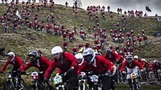 Gee Atherton hunts down 400 mountain bikers - Red Bull Fox Hunt 2013