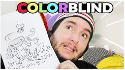 COLORBLIND ARTIST attempts a COLORING BOOK!