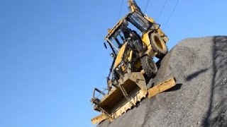 10 Amazing Dangerous Idiots Excavator Operator Skill - Fastest Climbing Excavator Machines Driving