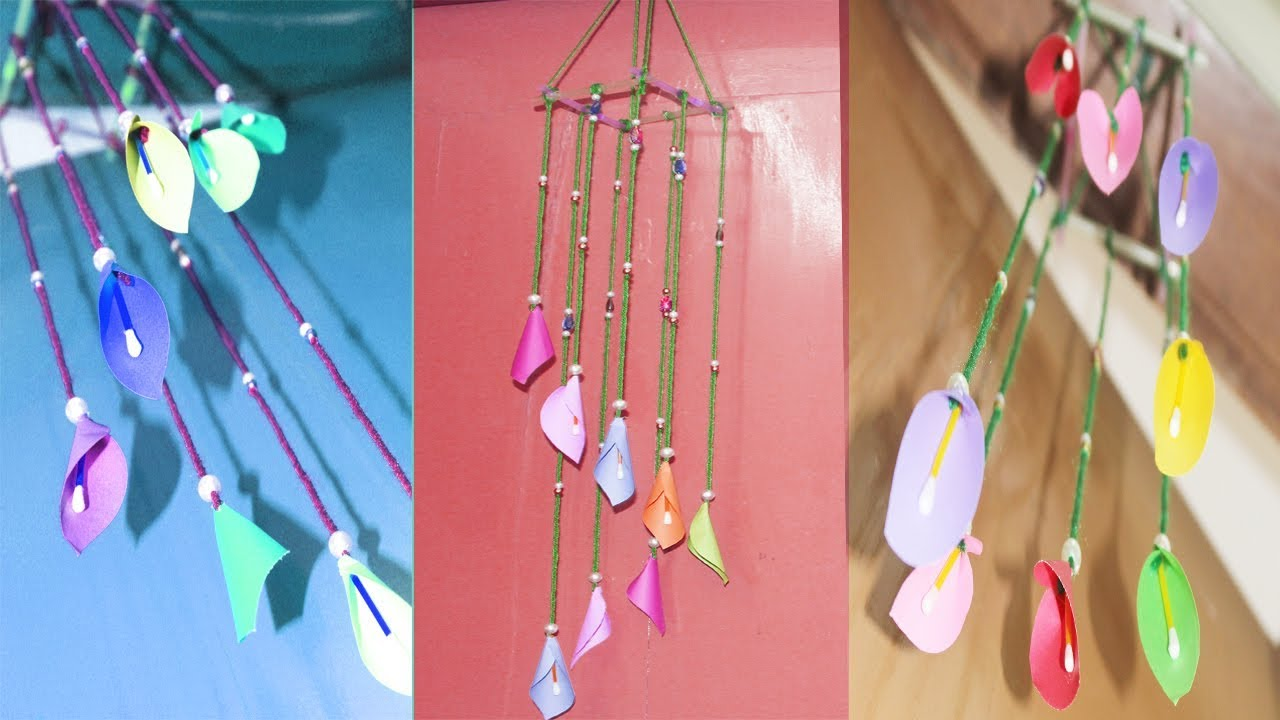 How To Make Wind Chimes Out Of Paper - How To Make Easy Paper Wall Hanging  - DIY Wall Hanging