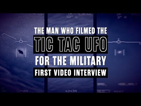The man who FILMED the TIC TAC UFO speaks on camera for the first time