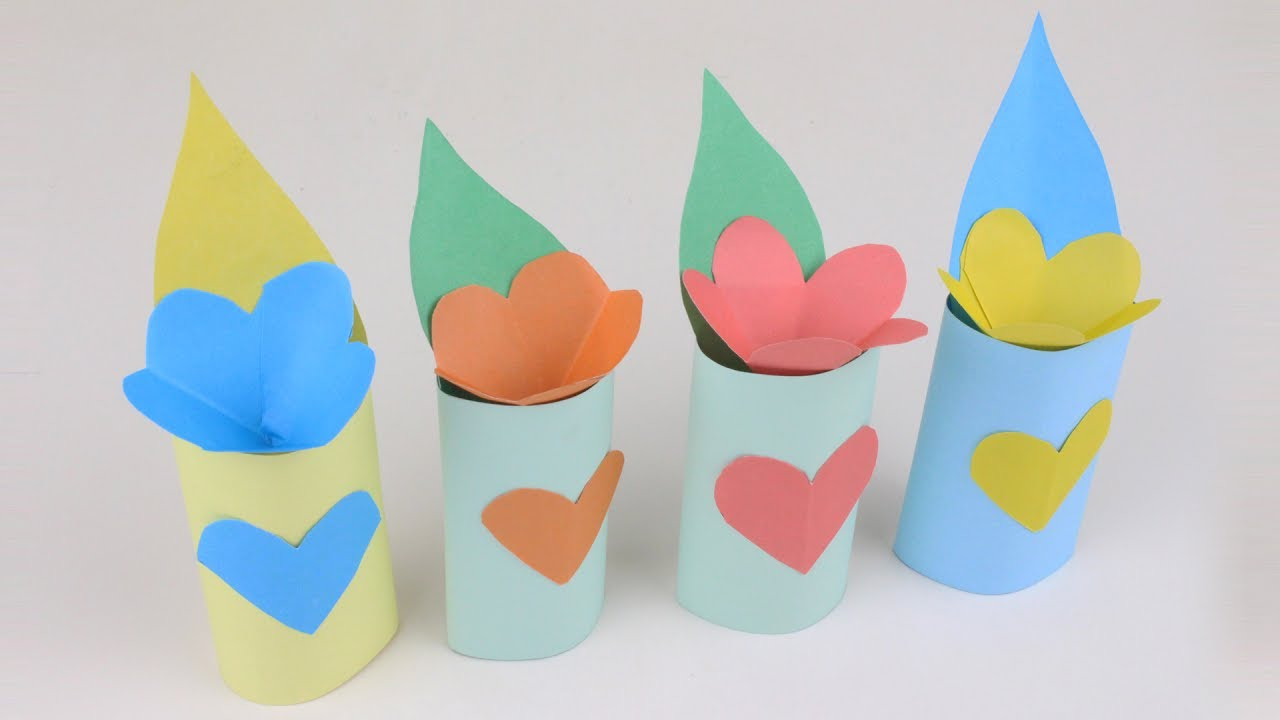 How to make paper vase of flower very easy how to make 3d how to make paper vase of flower very easy how to make 3d origami vase origami flower vase floridaeventfo Images