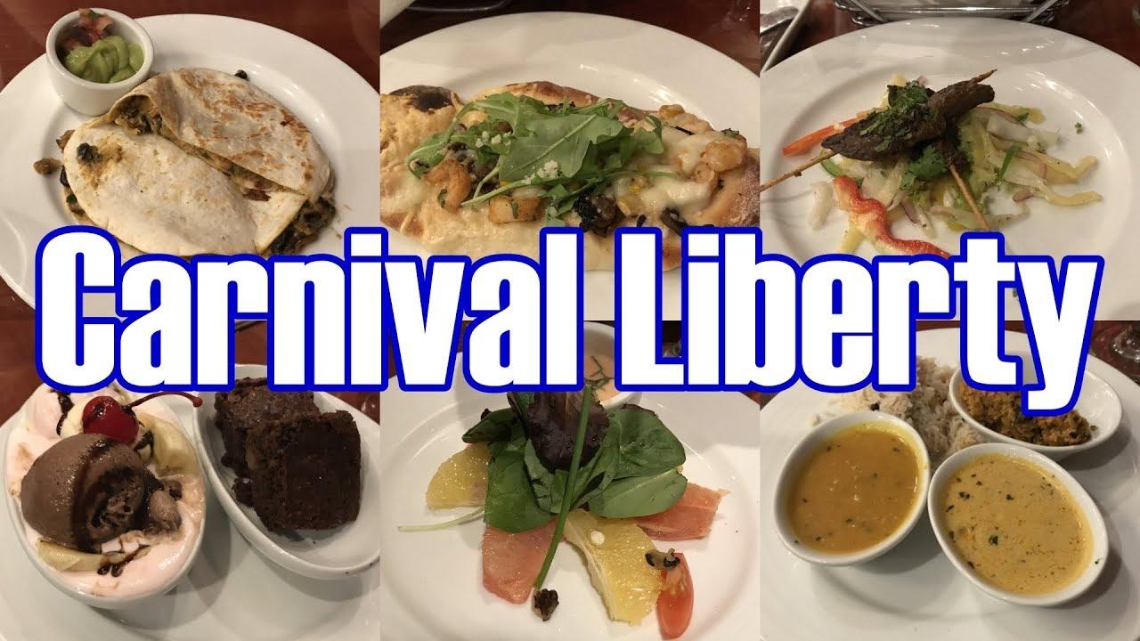 Carnival Liberty Main Dining Room Dinner Menus Food Photos December 2018 Parodeejay Youtube