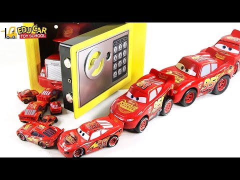 Learning Color Disney Pixar Cars Lightning McQueen Magic Safebox surprise Egg play for kids car toys