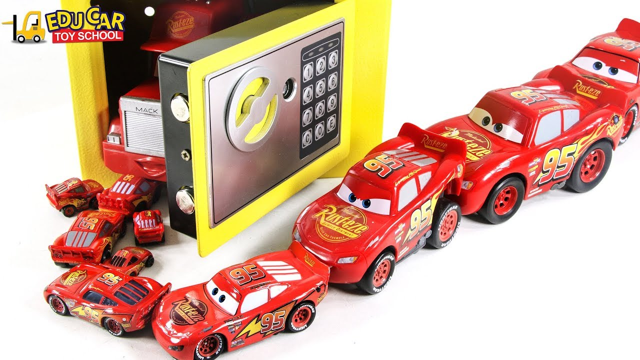 357f2a7b9bf Learning Color Disney Pixar Cars Lightning McQueen Magic Safebox surprise  Egg play for kids car toys