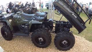 Polaris Sportsman 570 Big Boss 6x6 AWD Quad ATV tractor pick-up walkaround K98