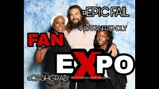 Fan Expo Canada 2018 disappointment and review #jasonmomoa #comiconvsfanexpo #regret