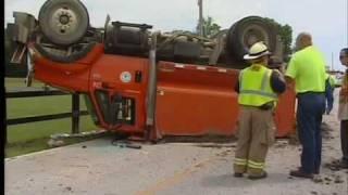 dump truck flips