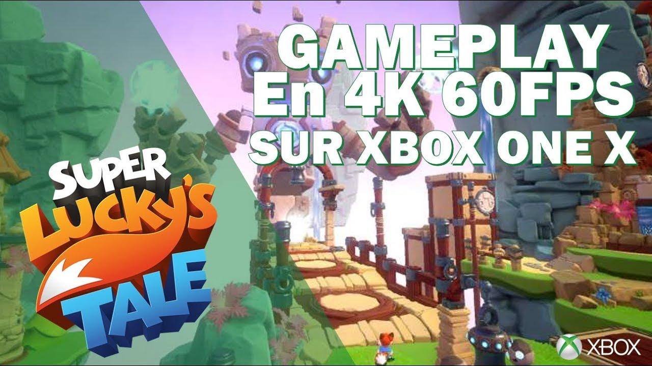 Super Lucky S Tale Gameplay Sur Xbox One X En 4k E3 2017 Youtube