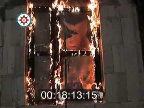 огневые испытания противопожарной двери с остеклением более 25% проема