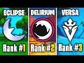 Ranking The Best Underrated Fortnite Teams! (Team Eclipse, Delirium & More!)