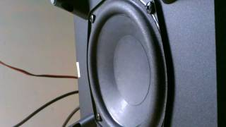 Logitech Z506 Subwoofer Excursion Test (Lil Scrappy)
