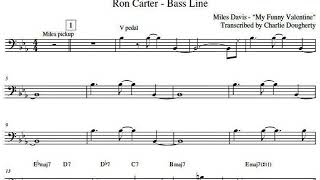 """Ron carter - bass line on """"all of you ..."""