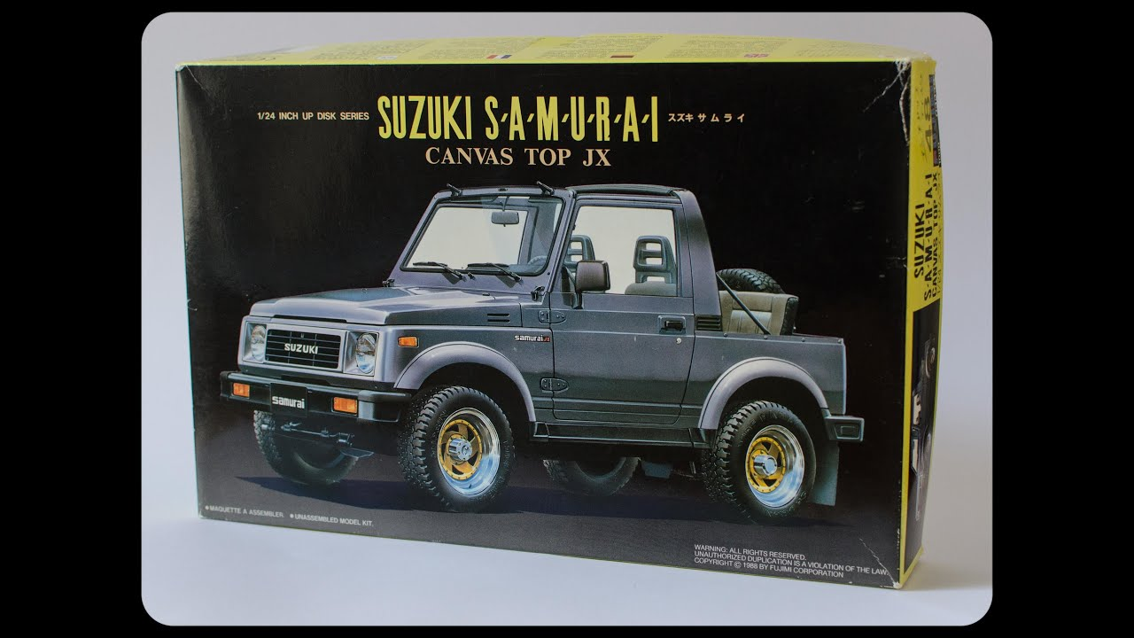 fujimi 1 24 suzuki samurai canvas roof model unboxing and suzuki samurai suzuki samurai alternator wiring diagram #4