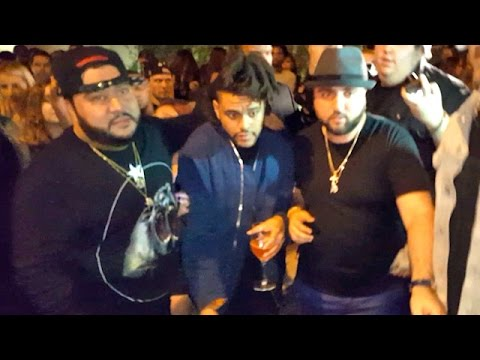 The Weeknd Is Swarmed At Republic Records VMAs Party