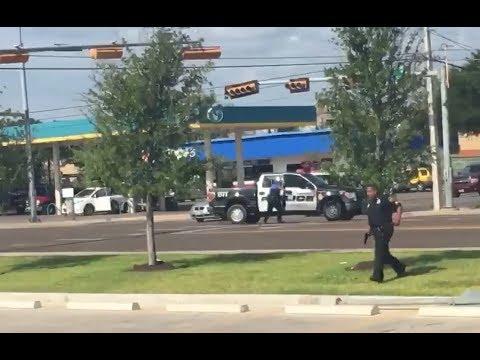 Momento de la balacera en Laredo Texas