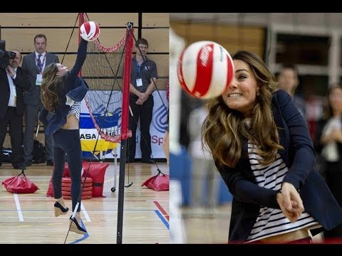 Kate Middleton Plays Volleyball!