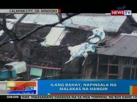 NTG: Ilang bahay sa Calapan City, Oriental Mindoro, napinsala ng malakas na hangin