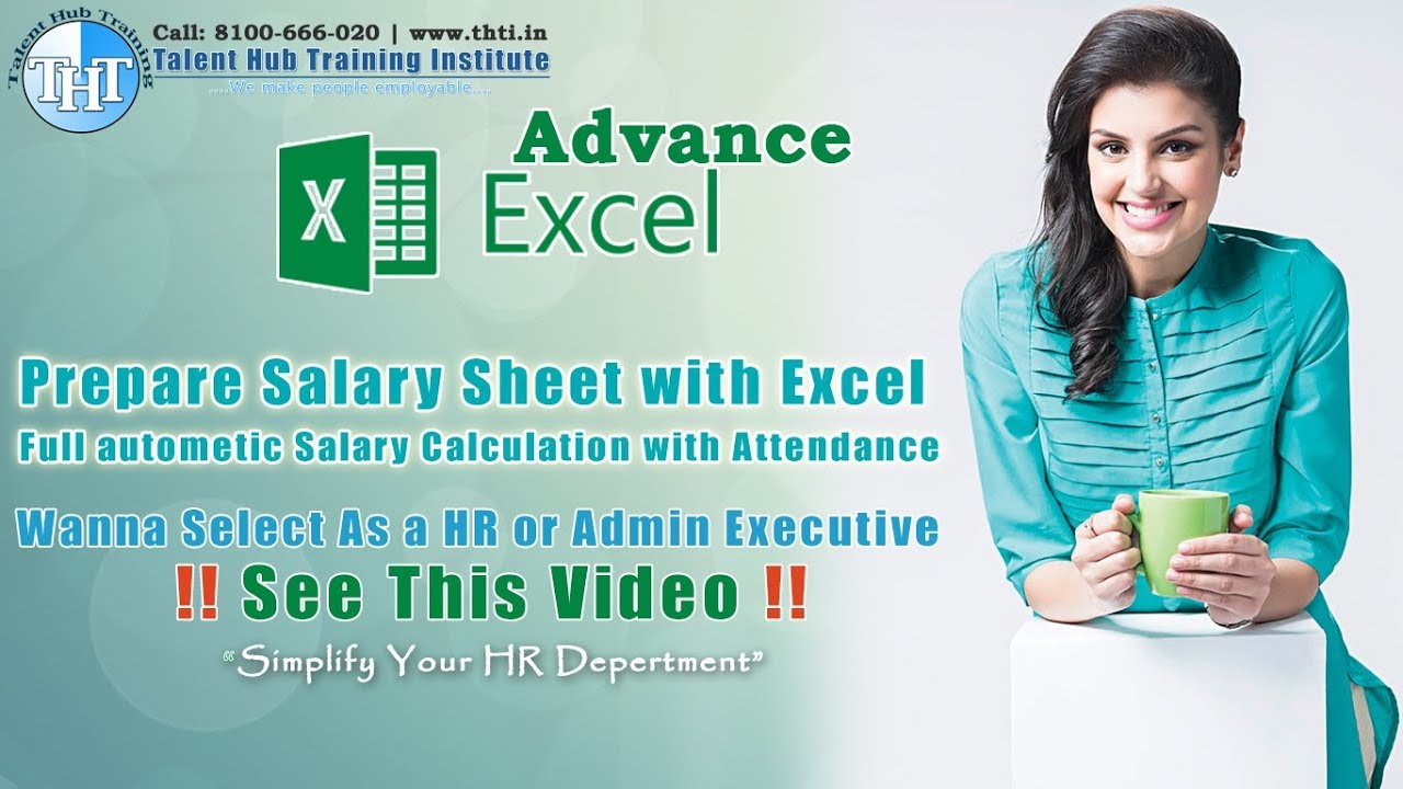 Salary Calculation Salary Sheet Preparation As Per Attendance With