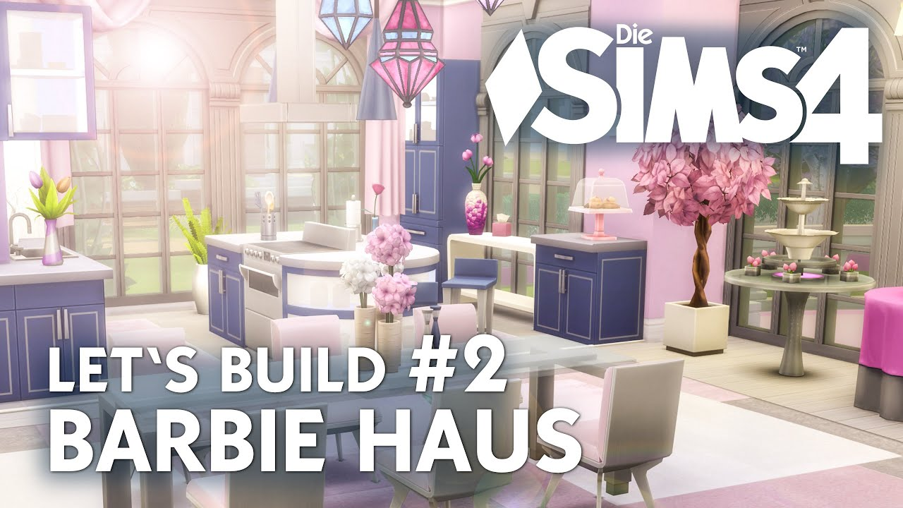 die sims 4 let 39 s build barbie haus 2 erdgeschoss bauen. Black Bedroom Furniture Sets. Home Design Ideas