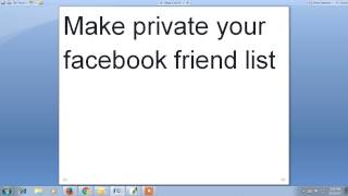 Make private your facebook friend list 2017