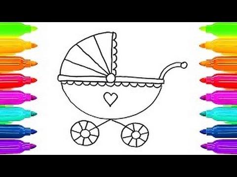 Como Desenhar Livro De Colorir Carro De Bebe Para Criancas