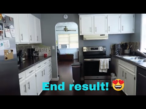 Rustoleum Cabinet Transformation - How to - Painting Kitchen Cabinets