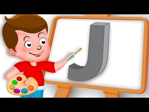 Drawing Alphabet J Letter coloring painting for kids Kids Drawing TV