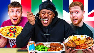 SIDEMEN EAT FOOD FROM DIFFERENT COUNTRIES 24 HOURS CHALLENGE