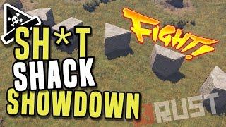 RUST STARTER BASE SHOWDOWN - Rust shacks for early game - base building guide