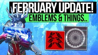 Destiny 2 News | FEBRUARY UPDATE DETAILS! - New Emblem System, Aura Perks & Why Emblems Don't Help!