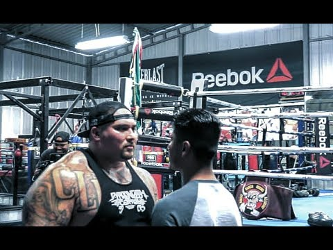 BIG BOY TAKES KNOCKOUT PUNCHES FROM WORLD CHAMPION MIKEY GARCIA  ROBERT GARCIA  ES