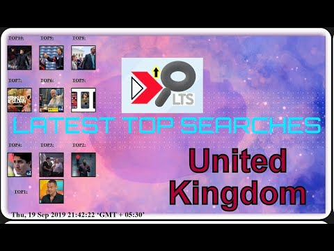 Today's Latest Top Searches||Date:20190919||COUNTRY:UNITED KINGDOM||Trending Searches||Top 10