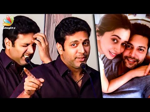 I'm Sorry ! My Wife Aarthi Apologised for the First Time : Jayam Ravi Funny Speech | Adanga Maru