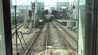 (前面展望)3000形柳川観光列車水都車両 西鉄大牟田線特急 大牟田行