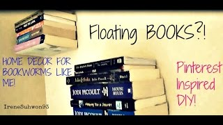 Pinterest Inspired: DIY FLOATING Bookshelf! | IreneSuhwon93