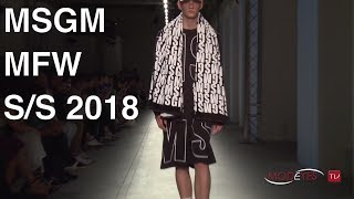 MSGM | SPRING SUMMER 2018 | FASHION SHOW HD
